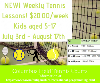 Junior Tennis weekly lessons